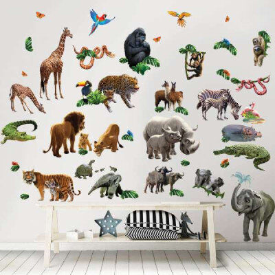 Jungle Eventyr Wallstickers - LykkeLeg