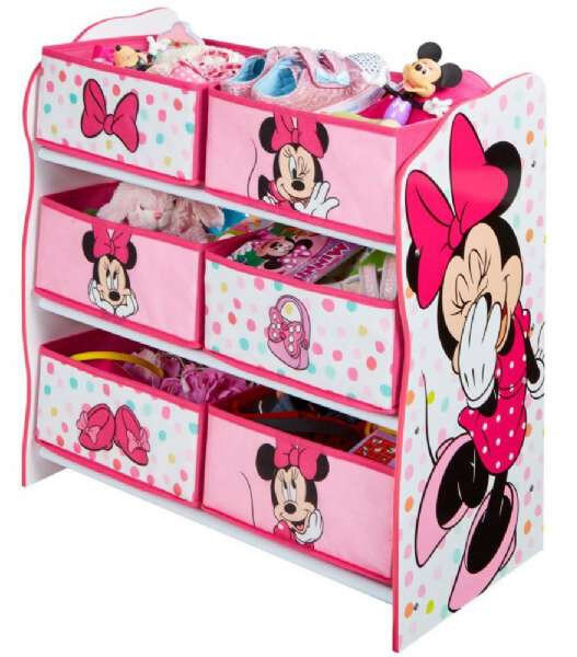 Minnie Mouse reol med 6 kurve