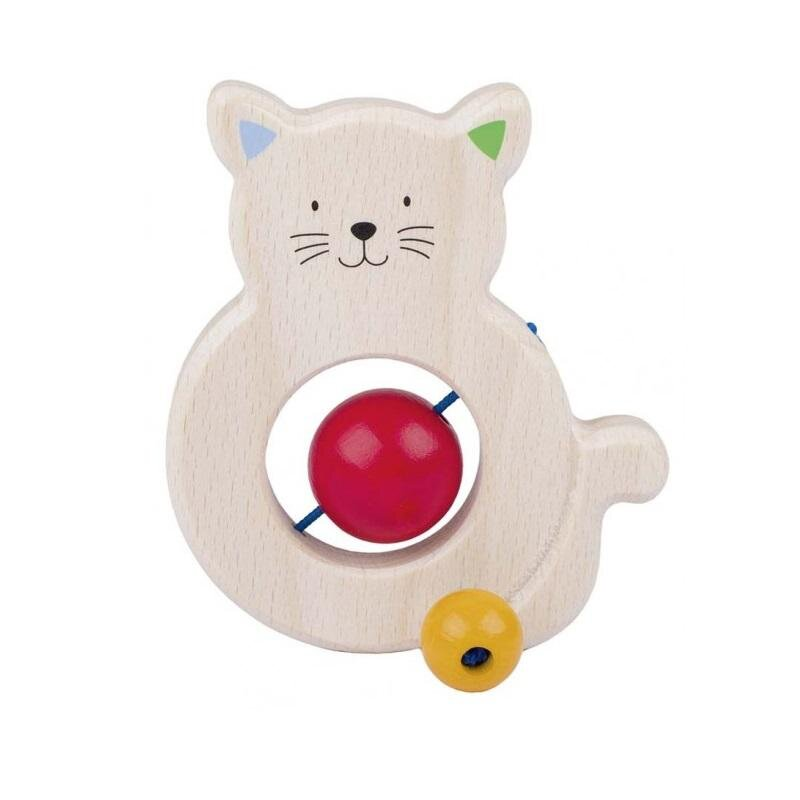 Image of Goki Heimess rangle i træ, kat med perler (255100)