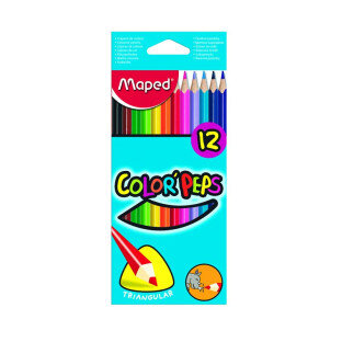 Maped Color peps farveblyanter, 12 stk - Lykkeleg