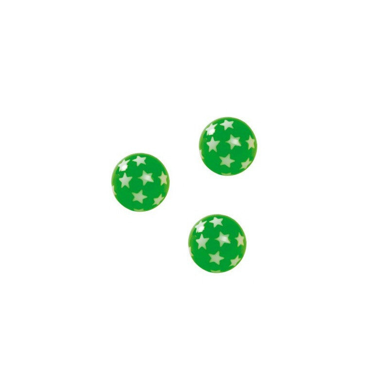 Goki hoppebold med stjerner, grøn